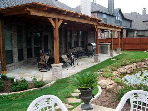 backyard covered patio patio covers covered back porch