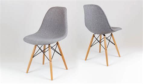 pied de meuble cuisine chaise tapisse design gris chin avec pied en bois et mtal