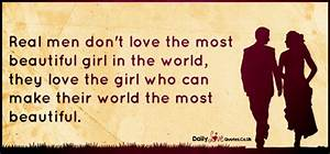 » Real men don't love the most beautiful girl in the world ...