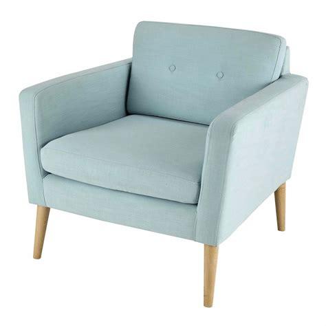 meubles de chambre ikea fauteuil vintage en tissu bleu clair noe maisons du monde