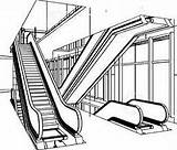 Escalator Clipart Escalators Coloring Pages Clipground Template Type Sketch Getcolorings sketch template