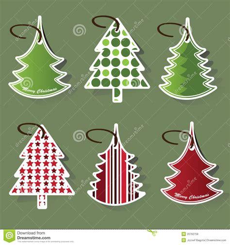 christmas tree price tags royalty free stock photos