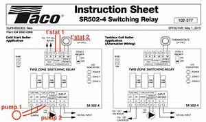 Taco Sr501  Honeywell Ra832a Switching