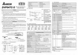 Thermocouple Sensors Dvp04tc-s Manuals