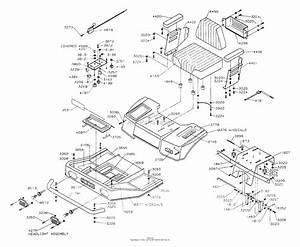 Dixon Ztr 428  1992  Parts Diagram For Body Assembly