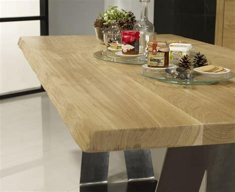 Table Rectangulaire Ndre En Chêne Et Métal Epaisseur Du