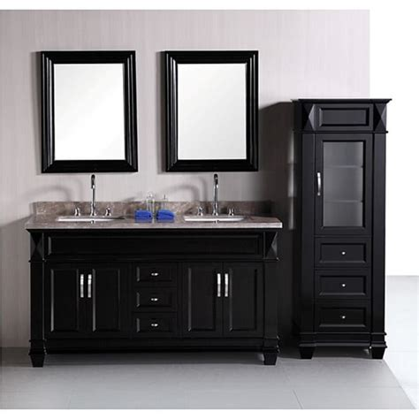 Bathroom Vanity And Tower Set by Design Element Hudson 60 Inch Sink Bathroom Vanity