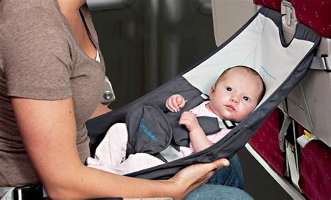 Baby Travel Hammock flyebaby airplane baby seat designrulz