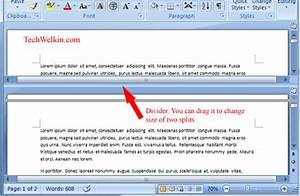ms word how to split a document in two windows With word documents split