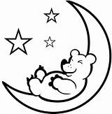 Moon Coloring Pages Crescent Sheet Printable Bear Sleeping Stars Clipart Sheets Phases Coloriage Detailed 21kb 574px Drawings Getcoloringpages Space sketch template