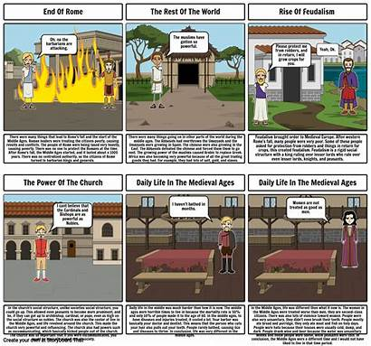 Ages Middle Rome Start Fall Storyboard
