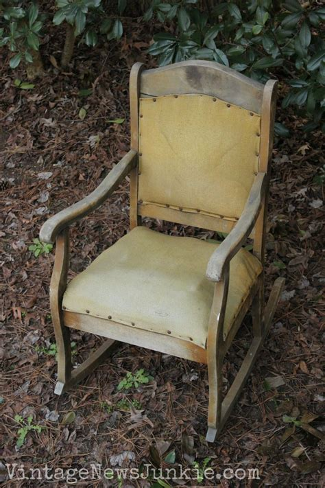 Chair Upholstery Repair by The Rescued Rocking Chair How To Reupholster A Chair