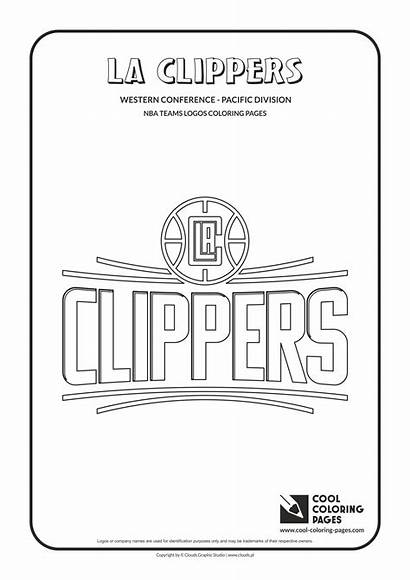 Coloring Nba Pages Clippers Logos Teams Cool