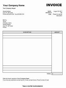 Free printable blank invoice templates free to do list for Free invoice template blank invoice template doc