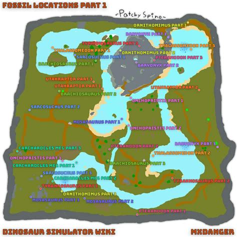 fossil list dinosaur simulator wiki fandom powered