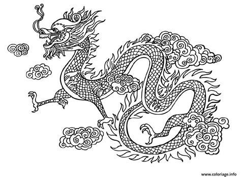 Coloriage Dragon Chinois Chine Dessin