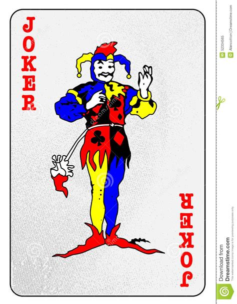 joker card stock illustration image