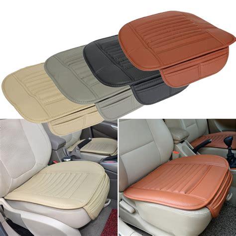 habillage siege auto cuir siège universel pu coussin de siège de voiture en cuir