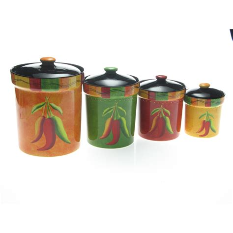 kitchen canisters set of 4 certified international caliente by 4