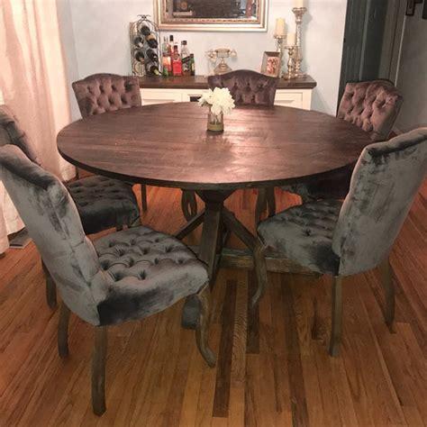 rustic  pedestal base table  kitchen table
