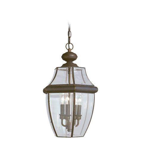 home depot outdoor hanging lights sea gull lighting lancaster 3 light outdoor antique bronze