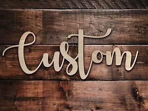 Custom, Wood, Sign