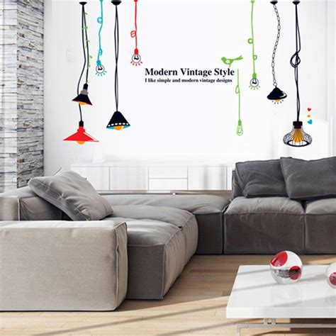 colorful hang ls wall stickers mural modern fashionable