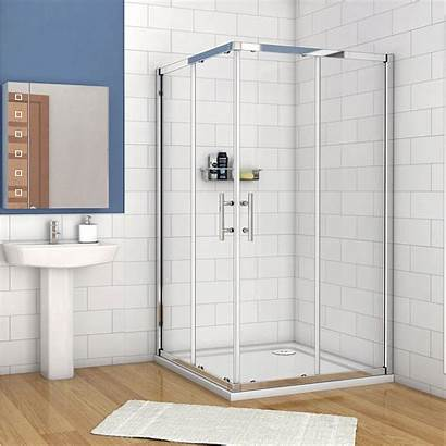 Shower Door Entry Corner Walk Glass Sliding
