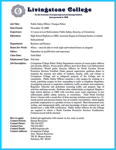 Officer Description For Resume by Correctional Officer Resume To Get Noticed