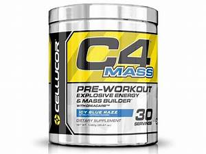 Cellucor C4 Mass Pre Workout Supplement  Carb  U0026 Creatine Muscle Builder For Size  U0026 Strength  30