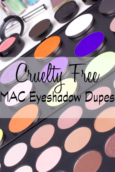 Cruelty Free MAC Eyeshadow Dupes - Swatches & Side by Side