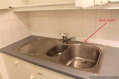 black mold kitchen sink how to remove the mold next to the water sink 7894