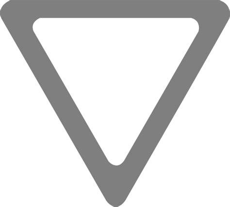 grey yield sign clip art  clkercom vector clip art
