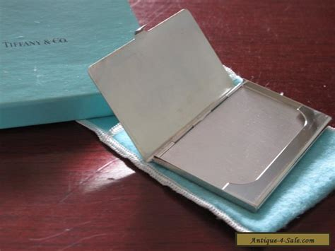 Tiffany & Co Silver (silverplate) Business Card Case Plus Graphic Design Business Card Mockup Visiting Of Designer Folders With Slits Google Contacts Plastic Holders South Africa Car Guy Holder Gold Foil Green Through