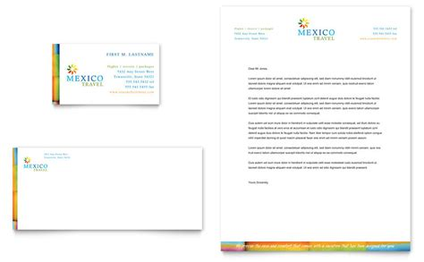 travel template video editing mexico travel business card letterhead template word