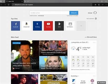Startseite Edge Microsoft Festlegen Anpassbare Internet