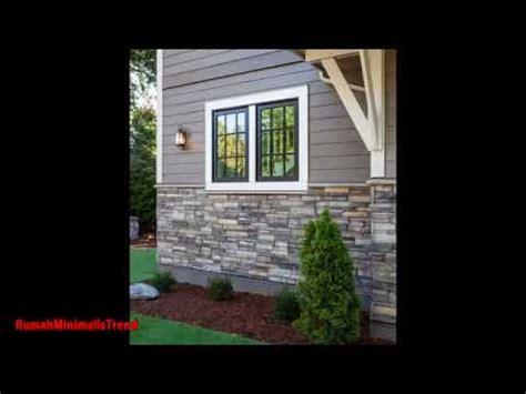dinding tiang teras rumah minimalis batu alam terbaru