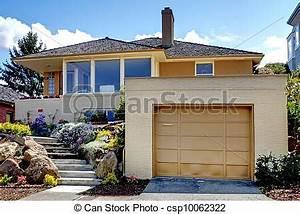 Tür Garage Haus : t r staircase modern garage karamell haus gro es stockfoto bilder und foto clipart ~ Sanjose-hotels-ca.com Haus und Dekorationen
