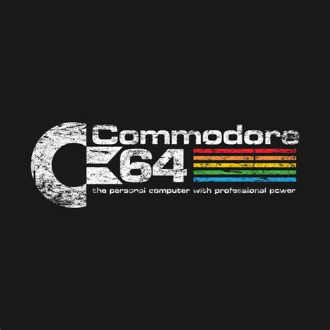 A Retro Commodore 64 Logo Tshirt  The Shirt List