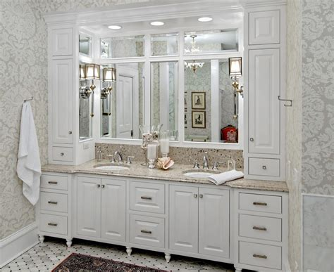 Built In Vanity Cabinets For Bathrooms by Bathroom Vanity Cabinets Traditional With Built In
