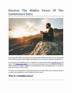 Uncover The Hidden Power Of The Lankavatara Sutra