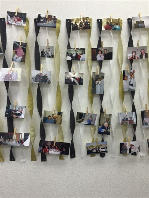 memory lane picture display birthday party prom themes