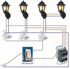 Wiring outdoor lights lighting and ceiling fans