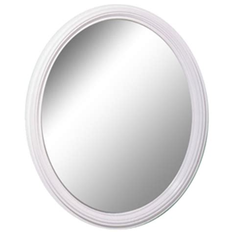 White Framed Oval Bathroom Mirror by Shop Style Selections White Oval Framed Wall Mirror At