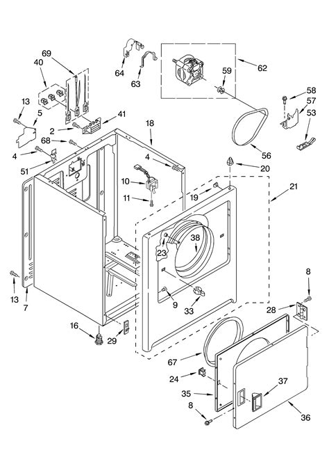 cabinet diagram parts list for model rex5634kq1 roper