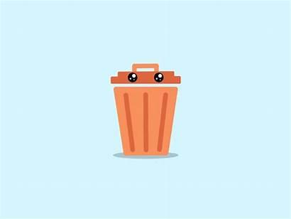 Trash Git Animation Dustbin Trashcan Repo Clean