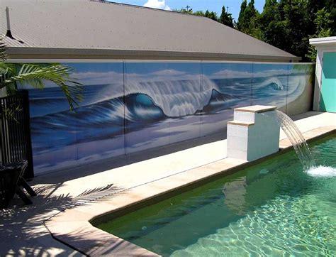 daniel joyce design mural projects wall pool fence