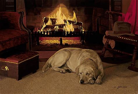 dogs for fireplaces weiss our favorite place limited edition print