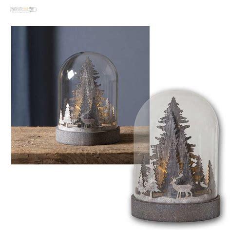 Weihnachtsdeko Fenster Mit Timer by Led Deko Kuppel Glaskuppel Glocke Weihnachten Winter