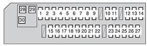 Toyota Rav4  Xa30  2009 - 2012  - Fuse Box Diagram